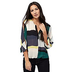 Principles by Ben de Lisi - Multi-coloured printed cold shoulder top