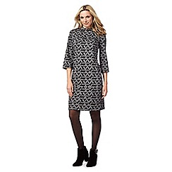Principles by Ben de Lisi - Grey geometric print tunic dress