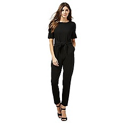 Principles by Ben de Lisi - Black front tie cropped jumpsuit