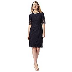 Principles by Ben de Lisi - Navy lace knee length shift dress