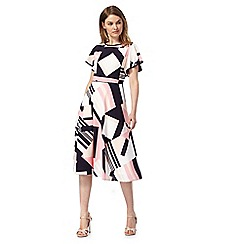 Principles by Ben de Lisi - Multi-coloured geometric print tea dress
