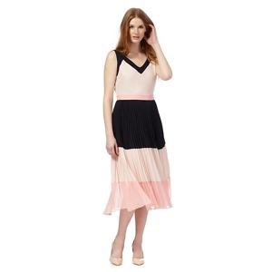 Principles by Ben de Lisi Pink colour block pleated dress