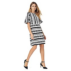 Principles by Ben de Lisi - Multi-coloured striped flute sleeve dress