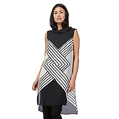 Principles by Ben de Lisi - Black printed cowl neck tunic