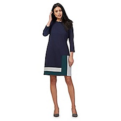 Principles by Ben de Lisi - Navy colour block ponte dress