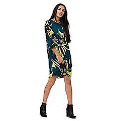 Principles by Ben de Lisi - Green ruffle sleeve floral print dress