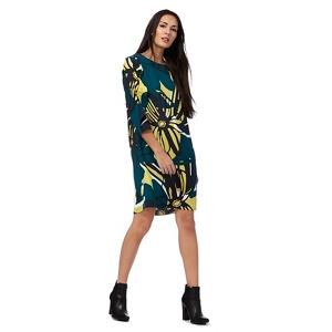 Plus Size Principles by Ben De Lisi Green Ruffle Sleeve Floral Print Dress