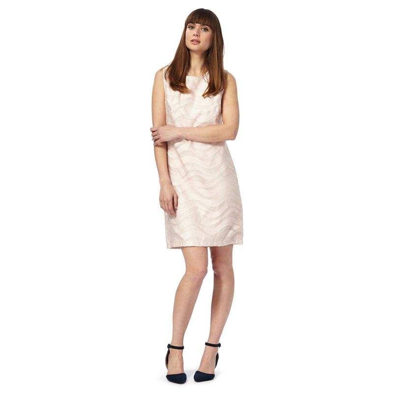 Principles by Ben De Lisi Pink Textured Shift Dress,
