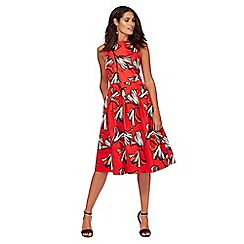 Principles by Ben de Lisi - Red floral print prom dress