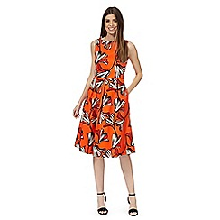 Principles by Ben de Lisi - Orange floral print dress