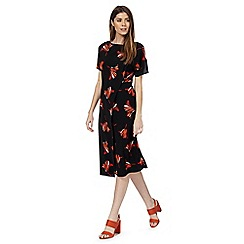 Principles by Ben de Lisi - Orange floral print tea dress