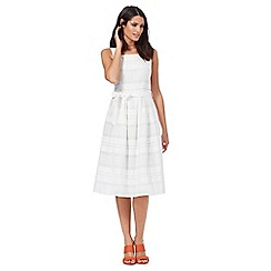 Principles by Ben de Lisi - Ivory striped dress
