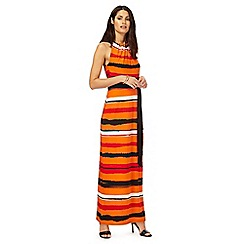 Principles by Ben de Lisi - Orange striped maxi dress