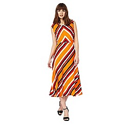 Principles by Ben de Lisi - Multi-coloured chevron print dress