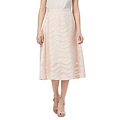 Principles by Ben de Lisi - Pink textured A-line skirt
