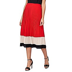 Principles by Ben de Lisi - Multi-coloured pleated midi skirt