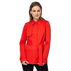 Principles Petite by Ben de Lisi - Red short zip front petite mac coat