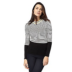 Principles by Ben de Lisi - Black striped print jumper
