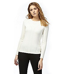 Principles by Ben de Lisi - Ivory stitched jumper
