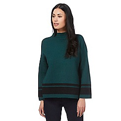 Principles by Ben de Lisi - Dark green boxed striped jumper