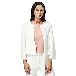 Principles by Ben de Lisi - White three-quarter sleeve cardigan