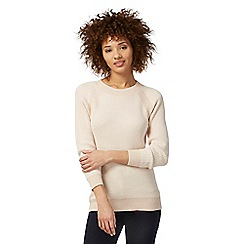 Principles by Ben de Lisi - Light pink ribbed knit jumper