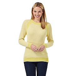 Principles by Ben de Lisi - Yellow ribbed knit jumper