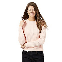 Principles by Ben de Lisi - Pink chevron jumper
