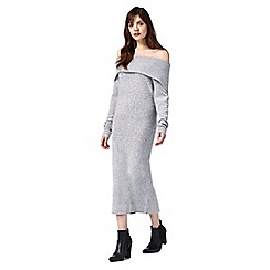 Principles by Ben de Lisi - Grey knitted bardot dress