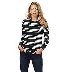 Principles by Ben de Lisi - Navy striped wrap jumper