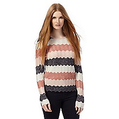 Principles Petite by Ben de Lisi - Multi-coloured metallic striped petite jumper