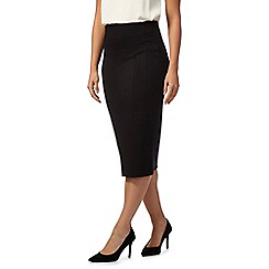 Principles by Ben de Lisi - Black slim ponte skirt