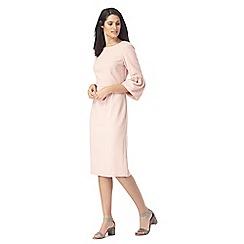 Principles by Ben de Lisi - Pink flute sleeve suit dress
