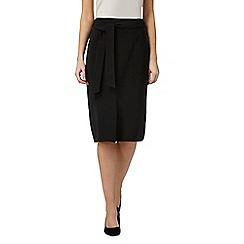 Principles Petite by Ben de Lisi - Black midi suit skirt