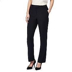 Principles Petite by Ben de Lisi - Navy petite straight leg suit trousers