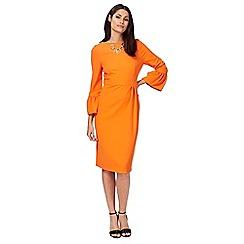 Principles by Ben de Lisi - Orange round neck pencil dress