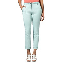 Principles by Ben de Lisi - Designer light turquoise cropped chinos