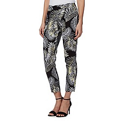 Principles by Ben de Lisi - Designer black palm print cropped trousers