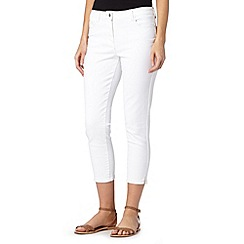 Principles by Ben de Lisi - Designer white cropped skinny jeans