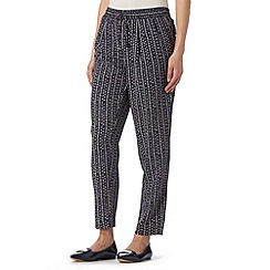 Principles by Ben de Lisi - Designer navy cross printed woven trousers