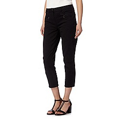 Principles by Ben de Lisi - Designer black cropped twill jeans