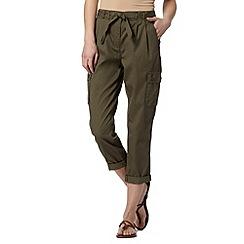 Principles by Ben de Lisi - Designer khaki cropped utility trousers