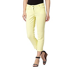 Principles by Ben de Lisi - Designer pale yellow cropped jeans