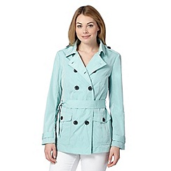 Principles by Ben de Lisi - Designer light turquoise trench coat