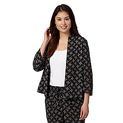 Principles by Ben de Lisi - Designer black diamond print jacket