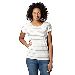 Principles by Ben de Lisi - Designer light grey variable striped top