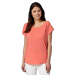 Principles by Ben de Lisi - Peach jersey cutout top