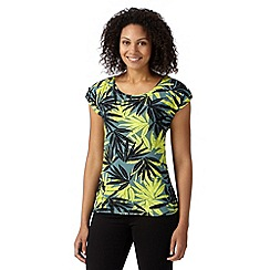 Principles by Ben de Lisi - Designer khaki tropical leaf top
