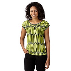 Principles by Ben de Lisi - Designer lime linear print jersey top