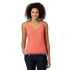 Principles by Ben de Lisi - Designer peach lace front vest